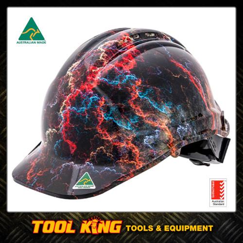 Hard Hat Hydro Dipped Lightning Australian Made