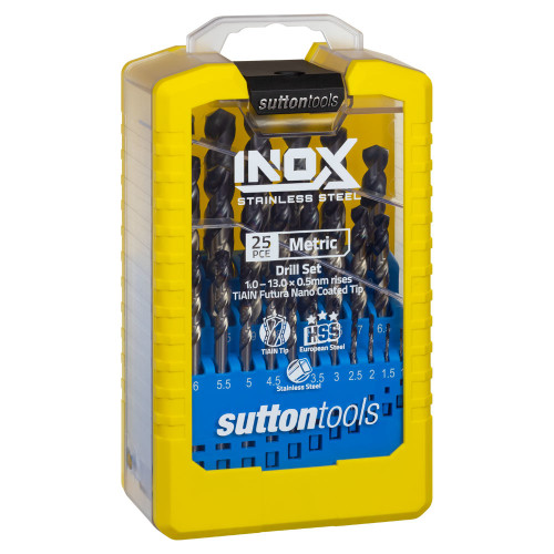 Sutton Tools 25pc INOX Drill Bit Set 1-13mm for Stainless steel