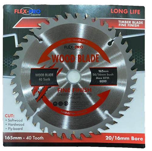 165mm Circular Saw blade 40 teeth fine  cut Flex Pro Trade grade