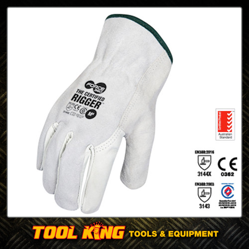 Force 360  Splitback Leather Riggers Gloves Lg x 12pairs