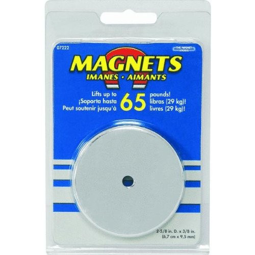 Round magnet holds 65LB