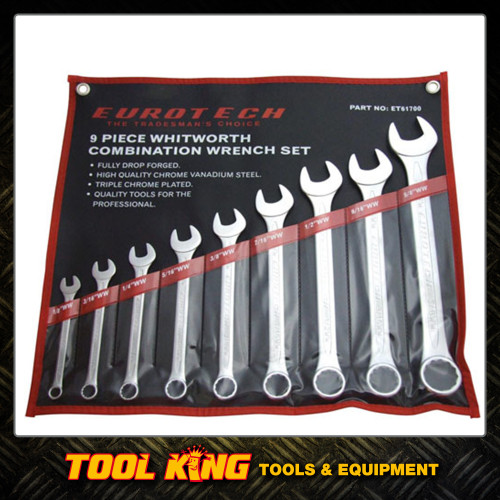 Spanner set WHITWORTH 9pc Eurotech Trade Quality CRV