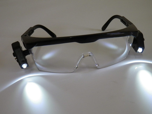Safety Glasses with LED light  2 x pairs