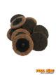 "10pc x 2"" 50mm Scotchbrite ROLOC quick change surface conditioning discs BROWN course"