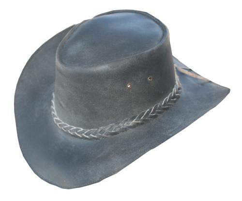 retro brown hat front