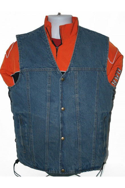 zipper denim vest