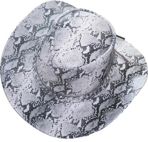 snake skin leather hat