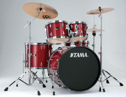 Tama Imperialstar 5-Piece Drum Set with Cymbals Candy Apple Mist Package