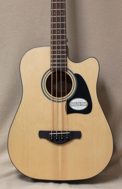 Ibanez AWB50CE Acoustic Electric Bass in Natural