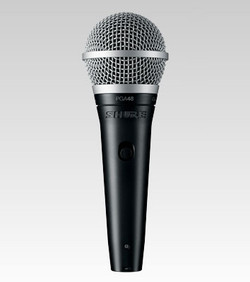 "Shure PGA48 Vocal Microphone with XLR to 1/4"" Cable"