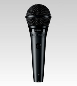 Shure PGA58-XLR Cardioid Dynamic Vocal Microphone with 15' XLR-XLR Cable