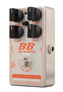 XOTIC CUSTOM SHOP BB PREAMP MB OVERDRIVE PEDAL
