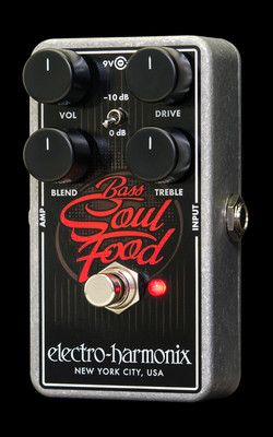 Image of the Electro-Harmonix Bass Soul Food Overdrive Effects Pedal at Northeast Music Center Inc.