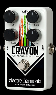 EHX Crayon Full Range Overdrive 69 - Black Electro-Harmonix Guitar Effects Pedals | Northeast Music Center