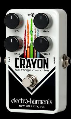 EHX Crayon Full Range Overdrive 69 - Black Electro-Harmonix Guitar Effects Pedals | Northeast Music Center