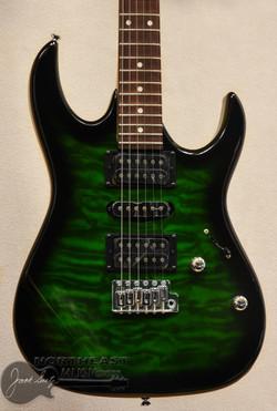 Ibanez GRX70QA - Transparent Emerald Burst - Ibanez gio Electric Guitars Northeast Music Center inc.