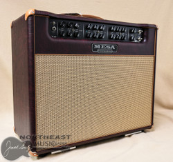 """Mesa Boogie Triple Crown TC-50 1x12"""" 50-watt Tube Combo Amplifier in Wine Taurus with Tan Jute Grille and Leather Corners (1.TC.117D.V26.V26.G03.P03.H04.C02.V)"""