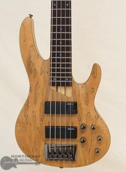 ESP/LTD B-205SM 5 String Bass With Spalted Maple Top - Natural Satin | LTD Bass Guitar - Northeast Music Center inc.