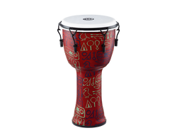Meinl Mechanical Tuned Travel Series Djembe with Synthetic Head in Pharaoh's Script Finish (PMDJ1-L-F)