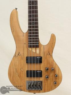 ESP/LTD B-204 Bass w/ Spalted Maple Top - Natural Satin (LB204SM) | Northeast Music Center Inc.