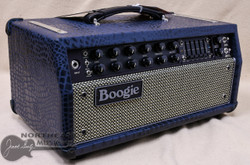 Mesa Boogie Mark V:35 Amplifier Head in Navy Croc Leather with Cream and Black Grille (2.M35.117D.L19.G05.P05.H03.C01.XXX)