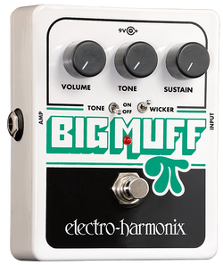 EHX Big Muff Pi Distortion Pedal with Tone Wicker