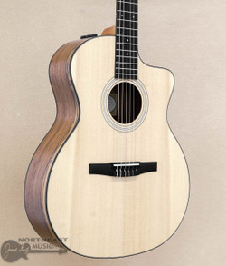 Taylor 114ce-N LTD with Ovangkol Body & Electronics | Taylor Limited Edition Nylon Classical Guitar - Northeast Music Center Inc.
