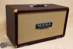 Mesa Boogie 2x12 Rectifier Cabinet - Wine Taurus, Tan Jute | Northeast Music Center Inc.