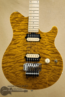 Ernie Ball Music Man Axis - Trans Gold Quilt | Northeast Music Center Inc.