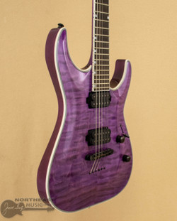 ESP/LTD MH-1000NT - See-Thru Purple (Used) | Northeast Music Center Inc.
