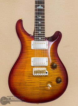 PRS Guitars Wood Library Custom 24 Fatback Flame Maple 10 Top - Dark Cherry Sunburst (WL_01456_DS) | Northeast Music Center Inc.