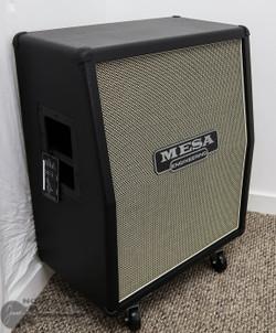 Mesa Boogie 2x12 Vertical Recto Cabinet - Black Taurus w/ Cream Black Grille | Northeast Music Center Inc.