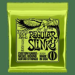Ernie Ball Regular Slinky (.10-.46) Electric Guitar Strings (P02221)   Northeast Music Center Inc.