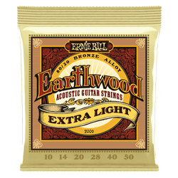 Ernie Ball Earthwood Extra Light Acoustic Guitar Strings (P02006) | Northeast Music Center Inc.