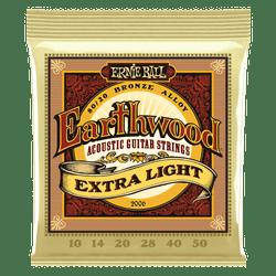 Ernie Ball Earthwood Extra Light Acoustic Guitar Strings (P02006) | Northeast Music Center Inc.