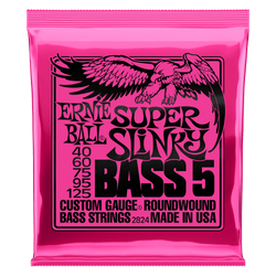 Ernie Ball Super Slinky 5 Bass Guitar Strings (P02824) | Northeast Music Center Inc.