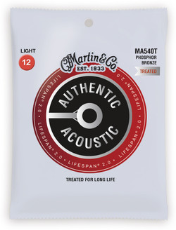 Martin Lifespan 2.0 92/8 Phosphor Bronze Acoustic Guitar Strings (LIFESPAN 2.0-PB) | Northeast Music Center Inc.