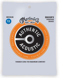 Martin Flexible Core Medium Gauge Acoustic Guitar Strings (MA550FX) | Northeast Music Center Inc.