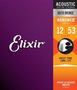 Elixir 80/20 Bronze w/ NANOWEB Coating Acoustic Guitar Strings | Northeast Music Center Inc.