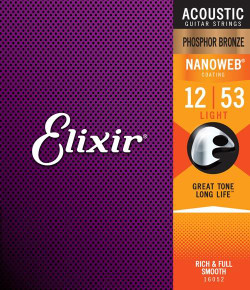 Elixir Phosphor Bronze w/ NANOWEB Coating Acoustic Guitar Strings | Northeast Music Center Inc.