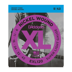 D'Addario XL Nickel Wound Super Light Gauge Electric Guitar Strings | Northeast Music Center Inc.