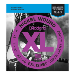 D'Addario XL Nickel Wound Super Light Gauge Blanaced Tension Electric Guitar Strings | Northeast Music Center Inc.