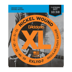 D'Addario XL Nickel Wound Regular Light Gauge 7-String Set | Northeast Music Center Inc.