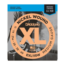 D'Addario XL Nickel Wound Medium Gauge w/ Wound Third | Northeast Music Center Inc.