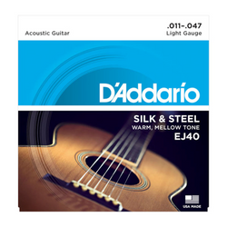 D'Addario Silk & Steel Light Gauge Acoustic Guitar Strings | Northeast Music Center Inc.