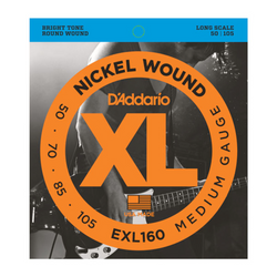 D'Addario XL Medium Gauge Bass Strings (50-105) | Northeast Music Center Inc.