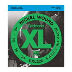 D'Addario XL Super Light Gauge Bass Strings | Northeast Music Center Inc.