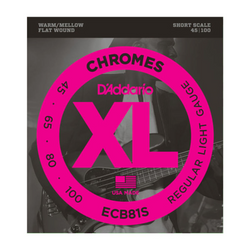 D'Addario XL Light Gauge Flat Wound Short Scale Bass Strings | Northeast Music Center Inc.