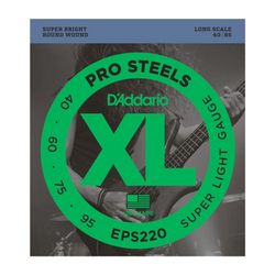D'Addario Pro Steels Super Lite Gauge Bass Strings | Northeast Music Center Inc.