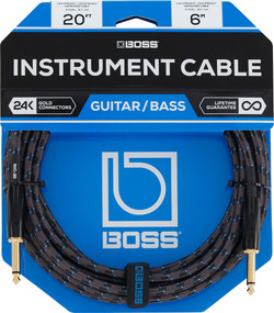 BOSS BIC-20 Foot Straight Instrument Cable (BIC-20) | Northeast Music Center Inc.